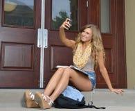 Studente sulla città universitaria Fotografia Stock Libera da Diritti