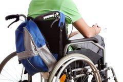 Studente sulla sedia a rotelle Fotografie Stock