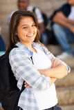 Studente sveglio della High School Fotografia Stock