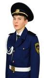 Studente teenager del banco militare Fotografia Stock Libera da Diritti