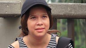 Studente teenager femminile preoccupato Fotografia Stock