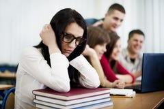 Studente triste e solo della nullità Fotografia Stock Libera da Diritti