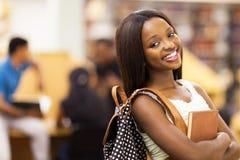 Studente universitario afroamericano Immagini Stock Libere da Diritti