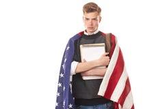 Studente universitario americano Immagini Stock Libere da Diritti