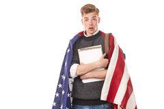 Studente universitario americano Fotografie Stock