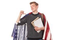 Studente universitario americano Immagini Stock