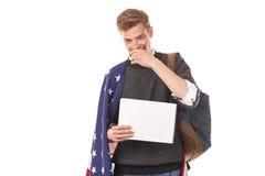 Studente universitario americano Fotografie Stock Libere da Diritti