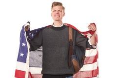 Studente universitario americano Fotografia Stock Libera da Diritti