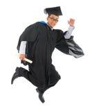 Studente universitario asiatico in abito di graduazione Fotografia Stock Libera da Diritti