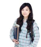 Studente universitario della femmina dell'Asia Immagine Stock