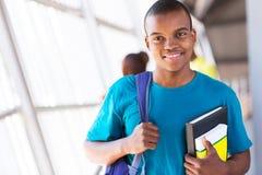 Studente universitario di afro Fotografia Stock Libera da Diritti