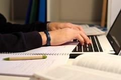 Studente Working Fotografia Stock