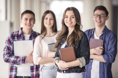 studenten royalty-vrije stock afbeeldingen
