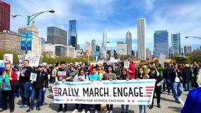 Studenten auf der Frontlinie des Märzes für Wissenschaft Stockfotografie