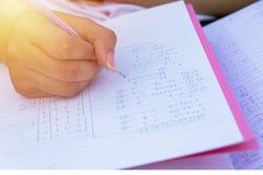 Studenten berechnen stockfotografie