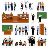 Studenten bij de universiteit Royalty-vrije Stock Foto's