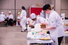 Studenten die bij Vaardigheden Canada Saskatchewan concurreren Stock Afbeelding
