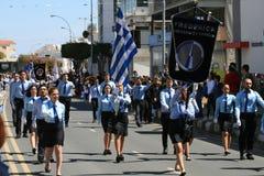Studenten, die an der Parade teilnehmen lizenzfreie stockfotos