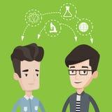 Studenten, die mit den Ideen teilen vektor abbildung
