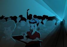 Studenten die op film in klasse letten Stock Foto's