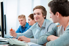 Studenten die trainingscursus bijwonen Royalty-vrije Stock Afbeeldingen