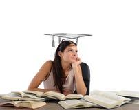 Studenten drömmer avläggande av examen Royaltyfria Bilder