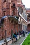 Studenten en universiteit Royalty-vrije Stock Afbeeldingen