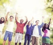 Studenten-Freundschaft Team Relaxation Holiday Concept Lizenzfreies Stockbild