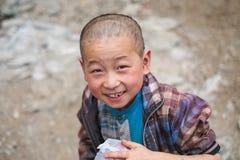 Studenten in Guizhou-berggebied Royalty-vrije Stock Foto