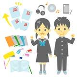 Studenten, het leren hulpmiddel vector illustratie
