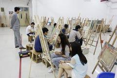 Studenten het trekken Stock Fotografie
