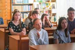 Studenten im Klassenzimmer lizenzfreie stockbilder