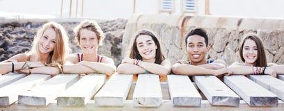 Studenten im Urlaub Stockbilder