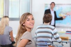 Studenten in klaslokaal Royalty-vrije Stock Foto