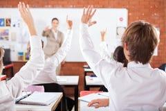 Studenten in klaslokaal Royalty-vrije Stock Afbeelding