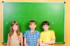 Studenten am Klassenzimmer Stockfotografie