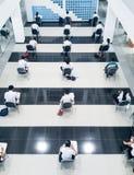 Studenten nehmen die Prüfung Lizenzfreie Stockbilder
