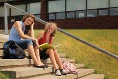 Studenten op school Stock Afbeelding