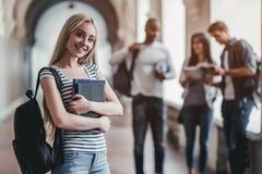Studenten op universiteit royalty-vrije stock afbeelding
