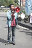 Studenten-Protest gegen Korruption in der Solo- Stadt, Indonesien Lizenzfreie Stockbilder