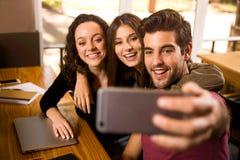 Studenten selfie stock fotografie