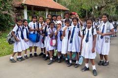 Studenten van de Middelbare school van het Meisje stock foto's