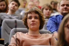 Studenten van het Polytechnische Instituut van St. Petersburg bij een lezing stock afbeeldingen