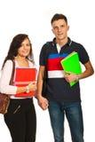 Studenten verbinden das Gehen zur Schule Stockbilder