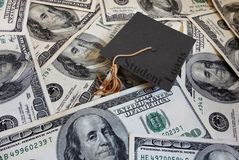 Studentendarlehensrückzahlungen Stockbild