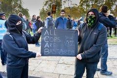"""Studentendemonstratie voor Vrij Onderwijs †""""geen besnoeiingen, geen prijzen, n Royalty-vrije Stock Foto's"""