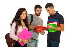 Studentenfrau und ihre Kollegen Lizenzfreies Stockfoto