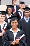 Studentengraduatie stock foto's