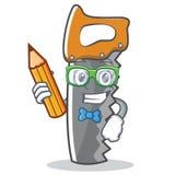 Studentenhandsäge-Charakterkarikatur lizenzfreie abbildung