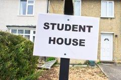 Studentenhuis stock afbeeldingen